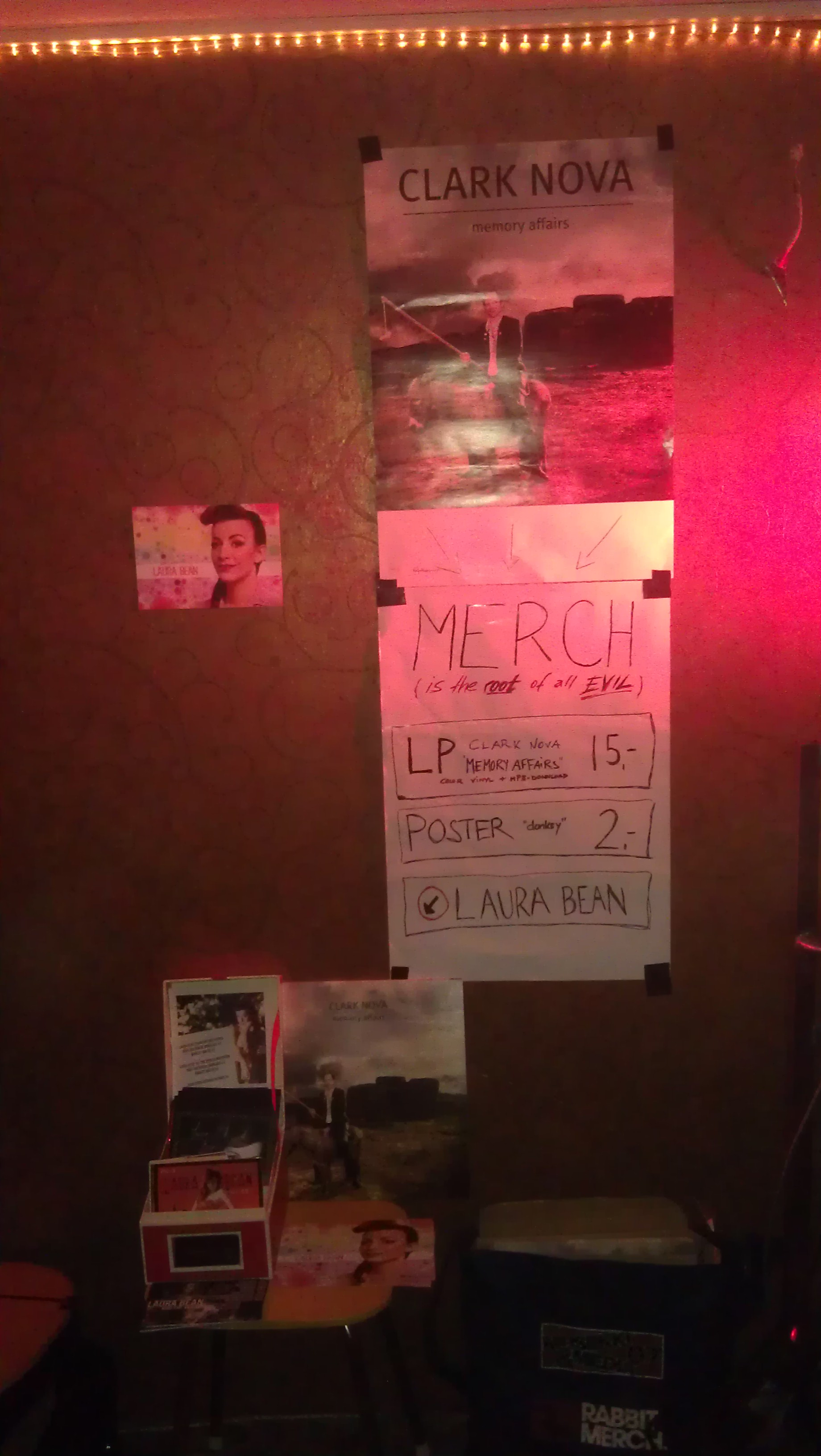 Merch Table Laura Bean Clark Nova Berlin