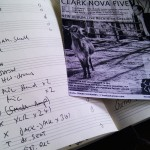 Clark Nova Five checklist for live album recording in culture container