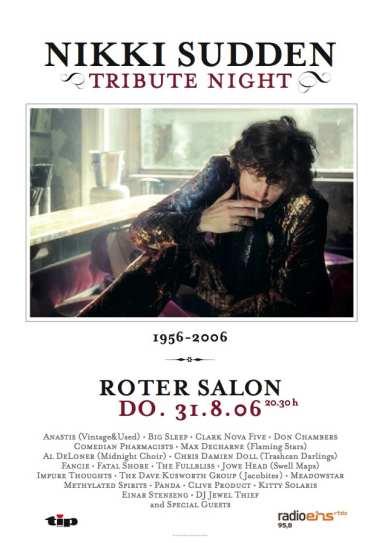 Nikki Sudden Tribute Roter Salon 2006